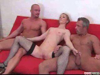 blondes, double penetration, mmf