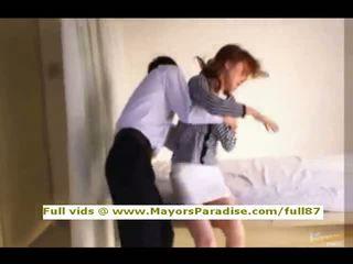 Akiho yoshizawa innocent китаянка дівчина gets манда licked