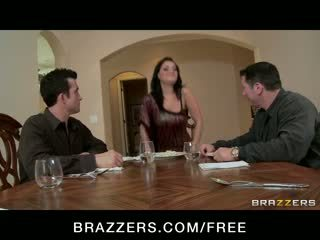 Charley Chase - BIG TIT BRUNETTE HAS DOUBLE PENETRATION THREESOME ORGY WITH BOSS