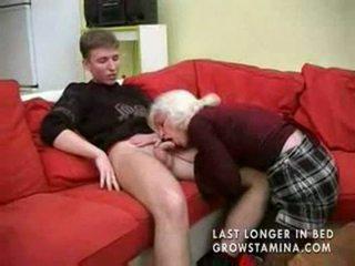 Granny koos saggy tissid gets perses part1
