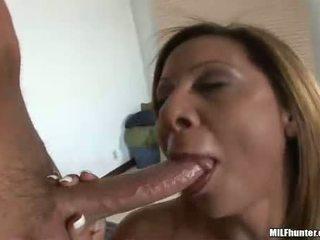 Breasty Milf Demi DeLia Engulfing A Large Fat Meatstick