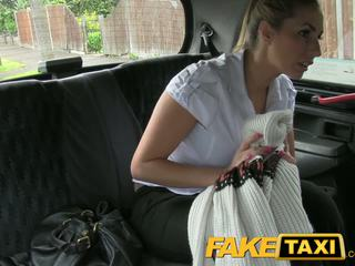 FakeTaxi Naughty Police woman in taxi man payback
