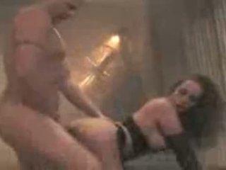 Adriana fodido em um g corda