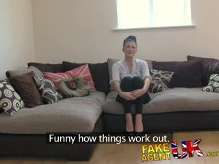 FakeAgentUK Sexy london chick has perfect little pussy for fucking