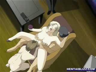 Manga verpleegster tied omhoog in een gynaecological stoel en punishment