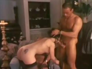 Bruneta v a vintáž double penetration, porno 62