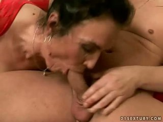Naughty granny getting fucked rough