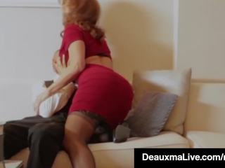 Horny Cougar Babe Deauxma Fucks Room Service Guy in.
