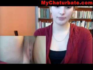 Ander masturbator in de bibliotheek op webcam leak