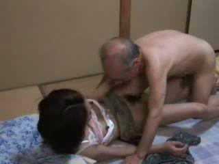 japansk, dotter, morfar
