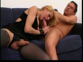 Blonde ladyboy anal slammed fast
