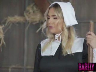Amish babe blair williams saves de heritage met haar poesje