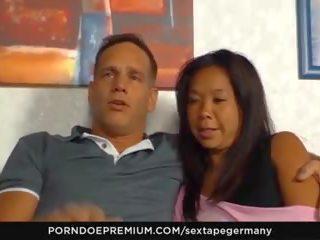 Sextape germany - duits amateur oraal seks met heet aziatisch