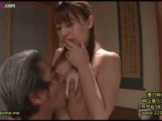 si rambut cokelat, oral seks, japanese