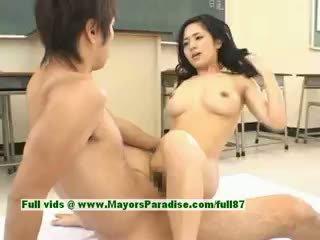 Sora aoi príťažlivé dievča sexy japonské študent gets a ťažký jebanie