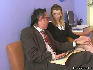 Horny old tutor giving lessons