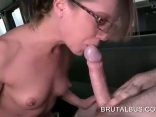 Teen eating and humping big shaft for money