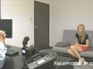 Tall Blonde Alexa Grace Sucking Off FakeProducer And Swallowing Cum