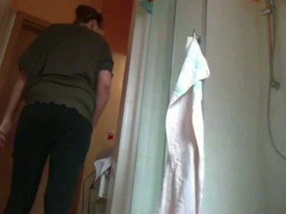 Brother Spying On Sister In Bathroom