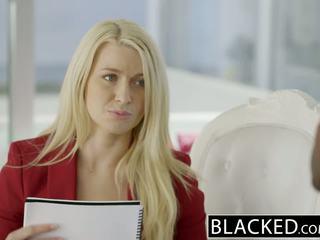 Blacked bisnis rambut pirang anikka albrite bokong kacau oleh sebuah bbc