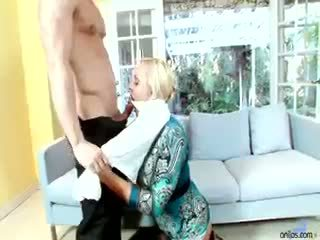 jmenovitý velká prsa horký, skutečný zralý více, zábava blondýnka
