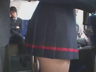 Giapponese tastata autobus bukkake