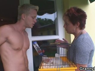 Kinky Looking Fellow Penetrates Grandmother Neighbour