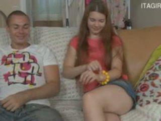 Italiana mãe e filho ejaculações em babaca