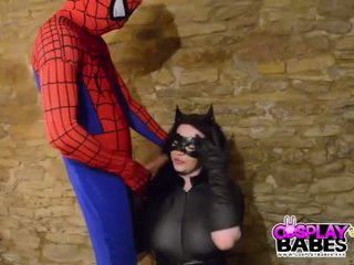 COSPLAY BABES Busty Catwoman fucked by Spiderman