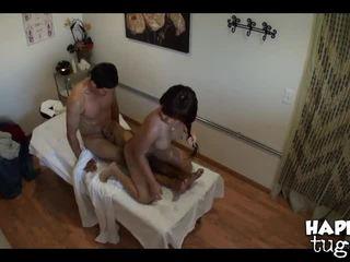 morena, óleo, sala de massagem