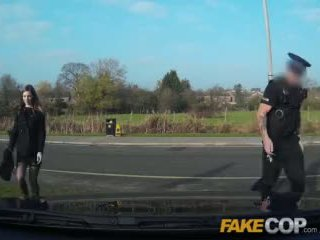 Fake Cop Stunning busty brunette cant resist