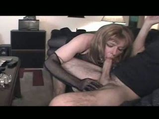 sexo oral, crossdresser, lingerie