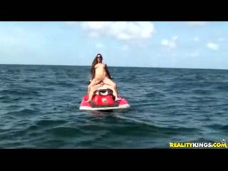 Krystal Main Riding Hard Ramrod In The Middle Of The Ocean And Getting Tits Cock Juiceed