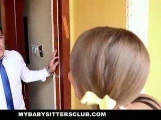 Mybabysittersclub sneaky baysitter geneukt hard