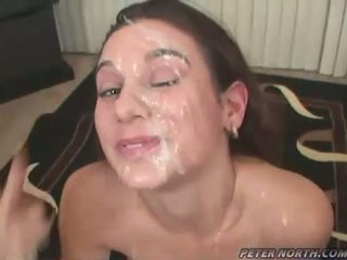 PLeasing Beauty Jackie Ashe Engulfing Weenies And Takes A Messy Nasty Facials
