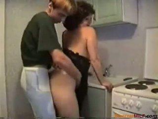 hausfrauen, reifen, küche