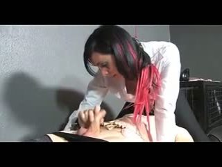 Tied guy gets fucked ar strapon