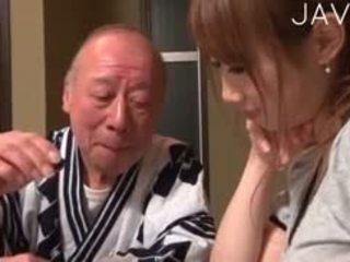 japoński, dziecko, stary + młoda