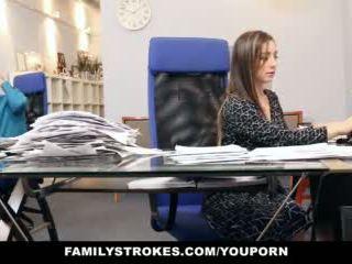 Familystrokes - 부분 시간 단계 딸 becomes full-time 단 정치 못한 여자