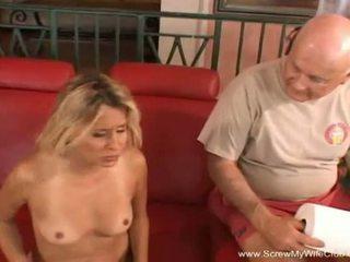 Screw My Wife Club: Blonde amateur milf fucks in front of her man