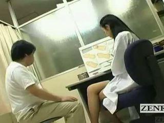 Subtitled cfnm japans milf dokter penis inspection