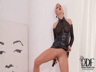 Bianca Returns For Her Fourth Appearance Looking Sultry In Her Cocoa Around Its See Through Top. Exposing Off Her Sensual Long Legs Onto Spiked Heels, A Czech Nymph Unzips A Back Of Her G