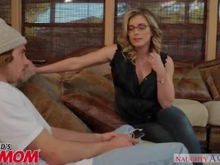 Horny MILF Cory Chase sits on her son's friend's face