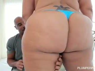 Lovely Latina BBW Sofia Rose Rides Big Black Cock
