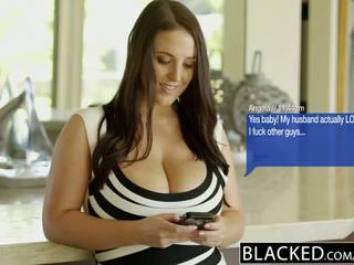 Blacked ใหญ่ โดยธรรมชาติ นม คนออสเตรเลีย ผู้หญิงสวย angela ขาว fucks bbc