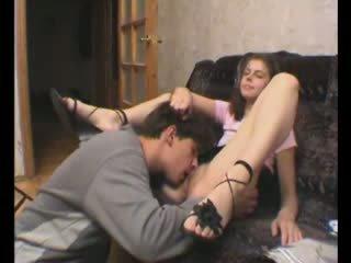Russian amateur couple loving