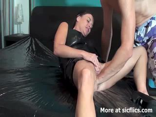 Fisting the wife till she gushes torrents of piss