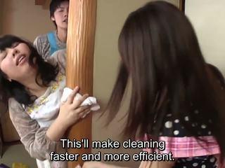 Subtitled 日本语 risky 性别 同 voluptuous 母亲 在