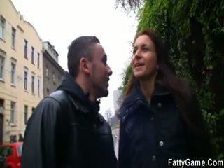 Briest gal seduces a male beside the gf