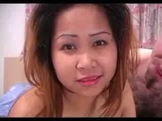 Asiatisch mieze loves seine fett weiß schwanz so viel